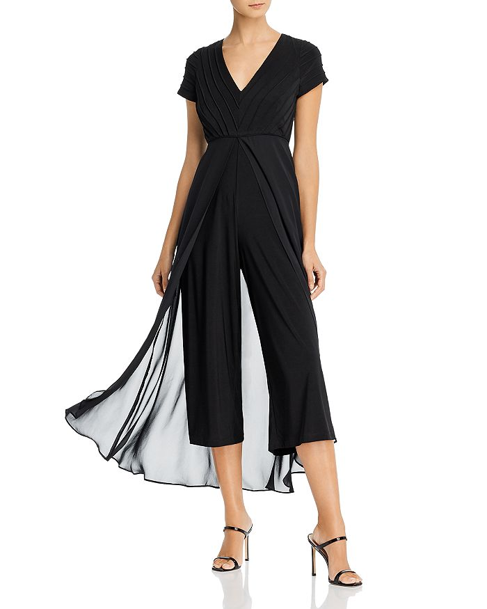 Adrianna Papell - Pintucked Jumpsuit with Overlay