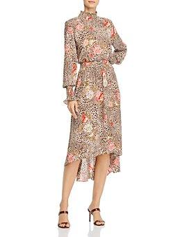 nanette Nanette Lepore - Smocked Midi Dress