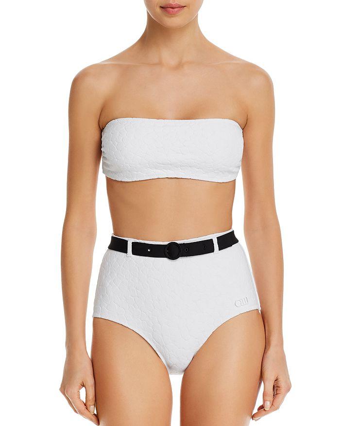 Solid & Striped - The Violet Bandeau Bikini Top & Belted Bikini Bottom
