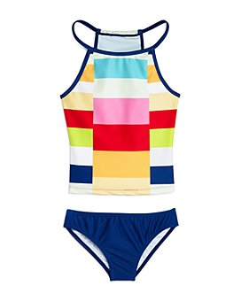 Limeapple - Girls' Alexia Colorblock Two-Piece Swimsuit - Little Kid