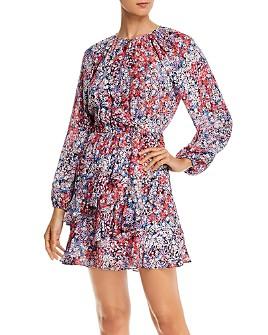 Parker - Bertie Silk Floral Print Ruffled Mini Dress