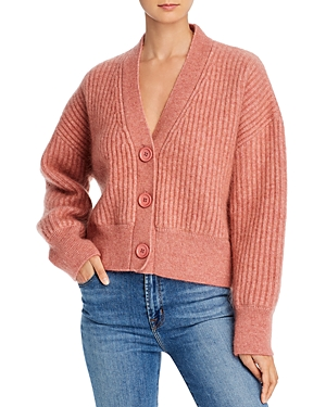 Anine Bing Maxwell Cropped Cardigan Sweater