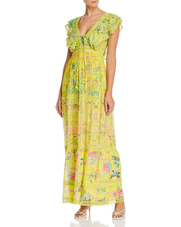 Hemant and Nandita - V-Neck Beaded Maxi Dress