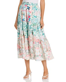 Hemant and Nandita - Cotton High Waist Printed Midi Skirt