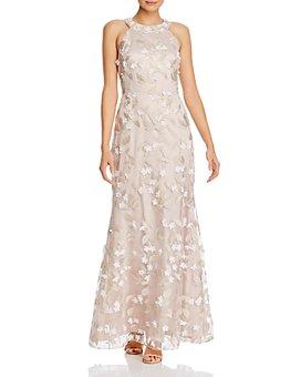 Eliza J - Floral Appliqué Gown