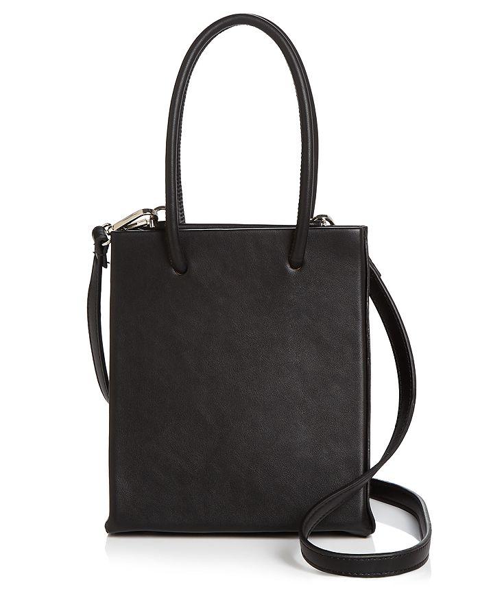 Aqua Small Black Shopper Tote - 100% Exclusive In Black/silver