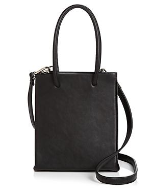 Aqua Small Black Shopper Tote - 100% Exclusive-Handbags