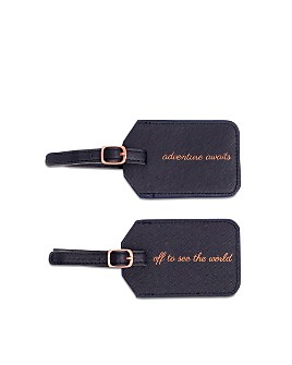 """Miamica - """"Off to See the World"""" 2-Piece Luggage Tag Set"""
