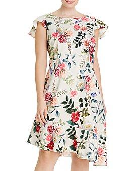 Adrianna Papell Plus - Parisian Garden Flounce Dress