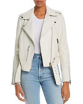 AQUA - Kelsey Leather Moto Jacket - 100% Exclusive