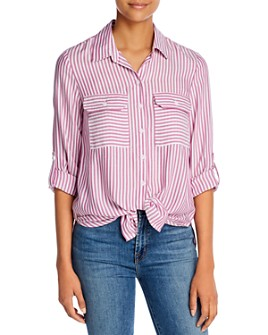 BeachLunchLounge - Jordana Tie-Front Shirt