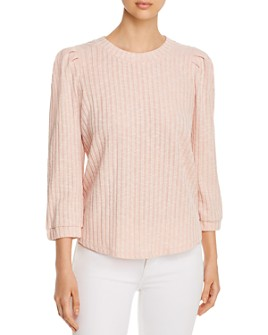 Status by Chenault - Ribbed Blouson-Sleeve Sweater