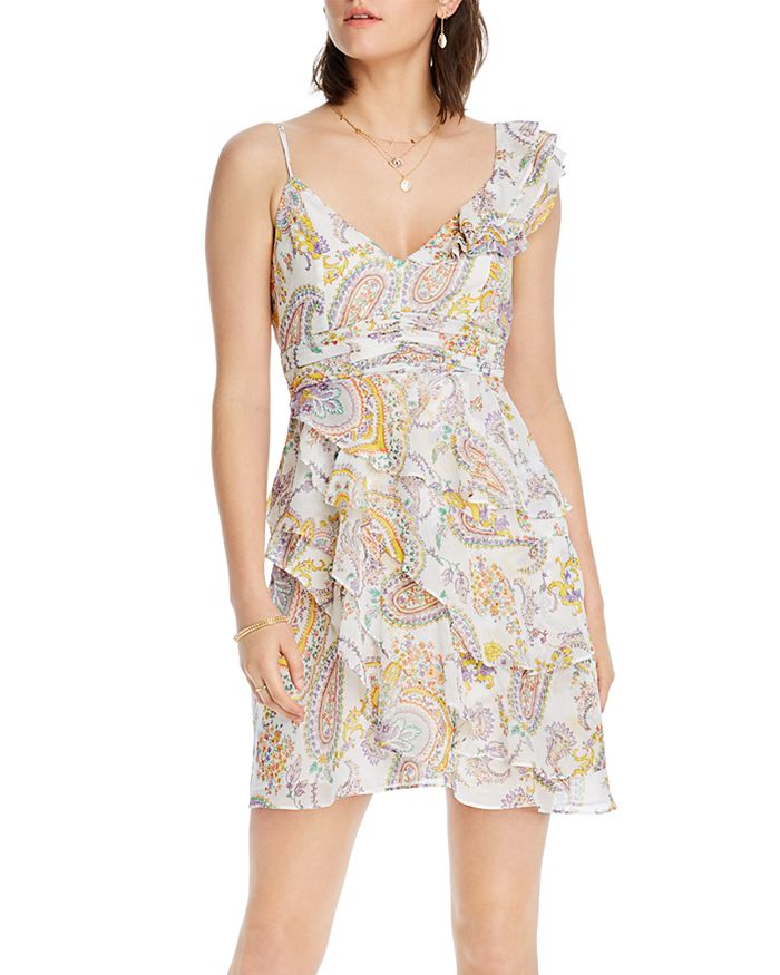 Lini Naomi Paisley Print Ruffled Dress - 100% Exclusive In Ivory Multi