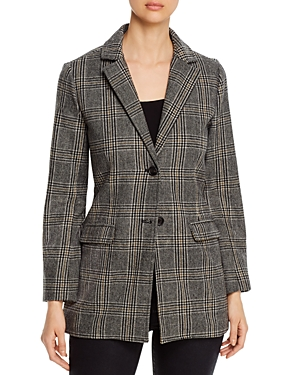 cupcakes and cashmere Lille Plaid Boyfriend Blazer