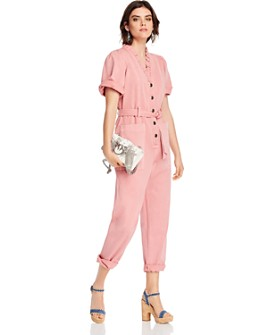 LINI - Hatty Denim Belted Jumpsuit - 100% Exclusive