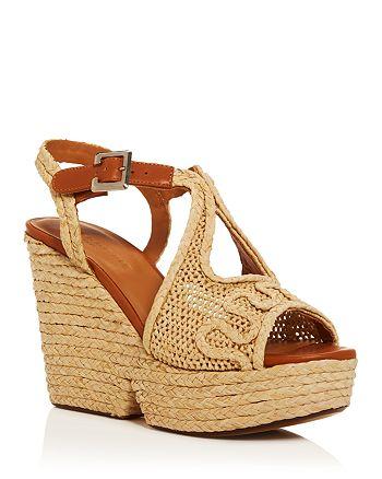 Clergerie - Women's Doloria Woven Wedge Platform Sandals