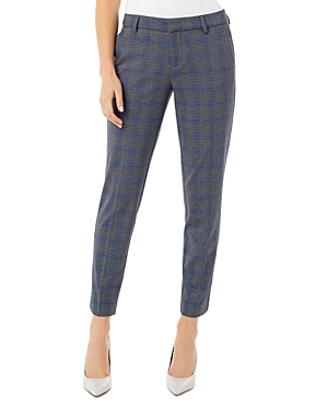 Liverpool Los Angeles Kelsey Plaid Straight-Leg Trousers-Women