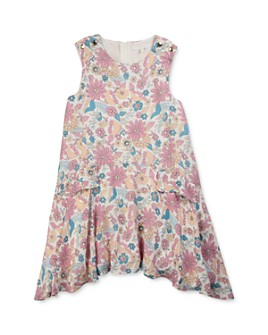 Chloé - Girls' Floral Blossom Asymmetric Dress - Little Kid, Big Kid