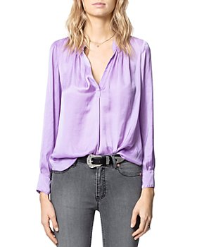 Zadig & Voltaire - Pleated V-Neck Top