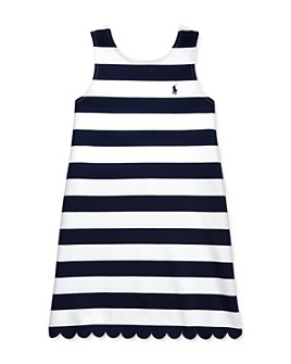 Ralph Lauren - Girls' Striped Stretch Ponté Dress - Big Kid