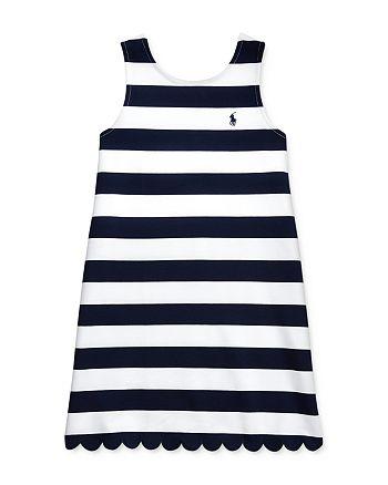 Ralph Lauren - Girls' Striped Stretch Ponté Dress - Big Kid