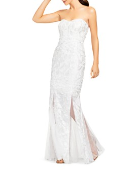 Aidan by Aidan Mattox - Embellished Strapless Gown