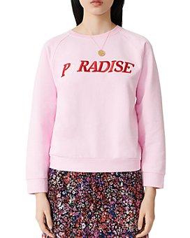 Maje - Paradise Embroidered Sweatshirt