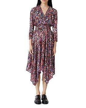 Maje - Floral-Print Midi Dress