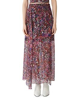 Maje - Jehane Floral Maxi Skirt