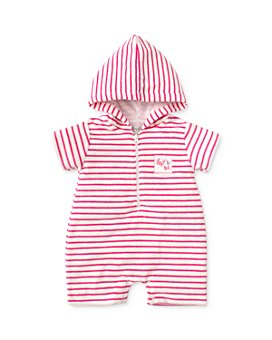 Kissy Kissy - Girls' Striped Terry Romper - Baby