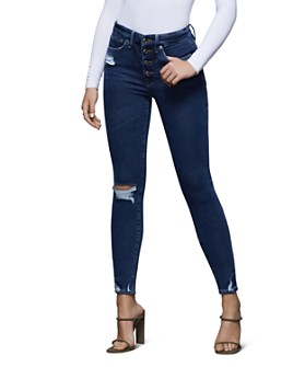 Good American - Good Waist High-Rise Skinny Jeans in Blue393