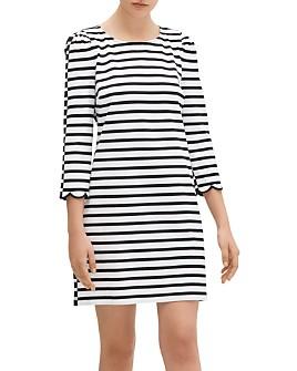 kate spade new york - Sailing Stripe Scallop-Cuff Dress