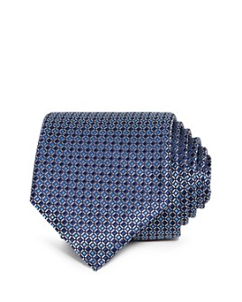 The Men's Store at Bloomingdale's - Dalton Micro Grid Silk Classic Tie - 100% Exclusive