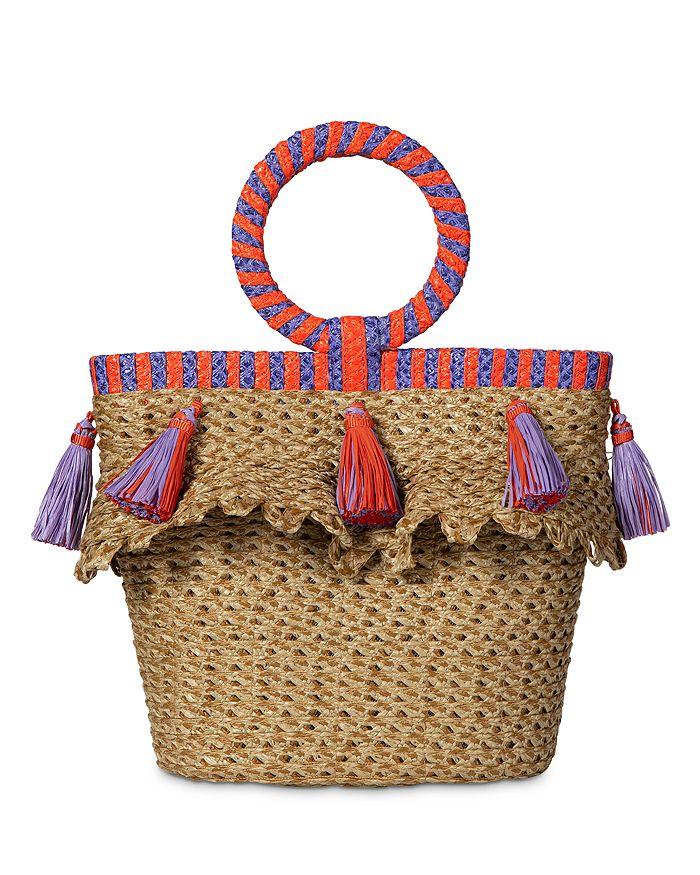Eric Javits Happy Small Bucket Bag In Natural/fiesta