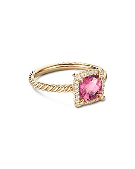 David Yurman - Petite Châtelaine® Pavé Bezel Ring in 18K Yellow Gold with Diamonds & Gemstones