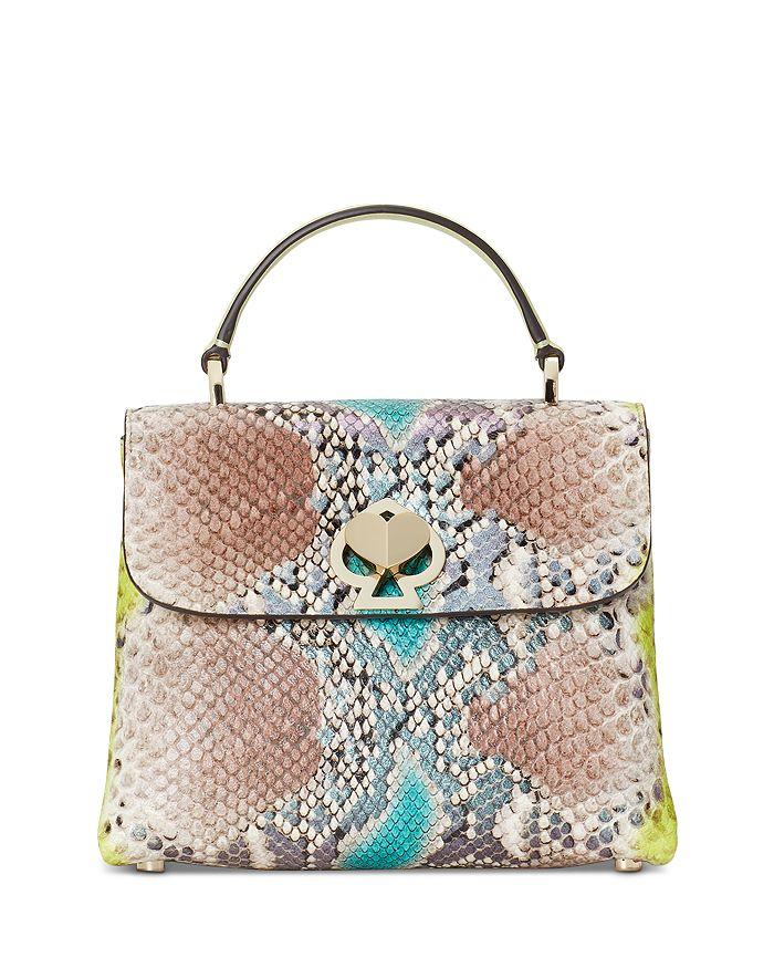 kate spade new york - Romy Python Embossed Mini Top Handle Bag