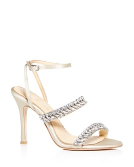 Bella Belle - Women's Belinda Crystal-Embellished High-Heel Sandals