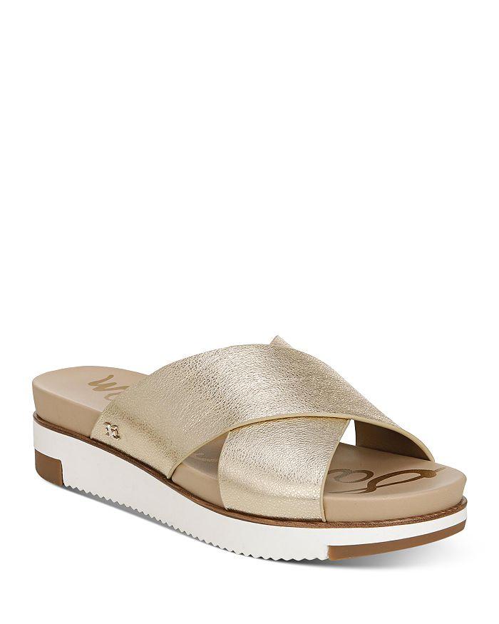 Sam Edelman - Women's Audrea Slip On Cross Band Wedge Sandals