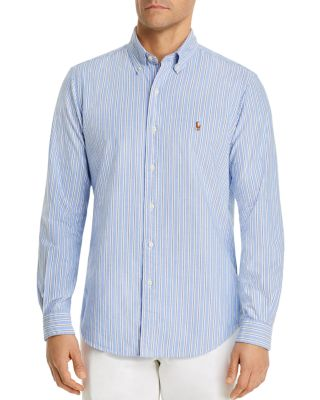 8 Medium Basic Editions Boys Long Sleeve Shirt Tattersall Plaid Blue