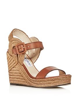 Jimmy Choo - Women's Delphi 100 Espadrille Wedge Sandals