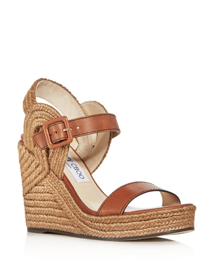 Jimmy Choo Women's Delphi 100 Espadrille Wedge Sandals    Bloomingdale's
