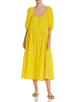 Solid & Striped - Linen Peasant Dress Swim Cover-Up
