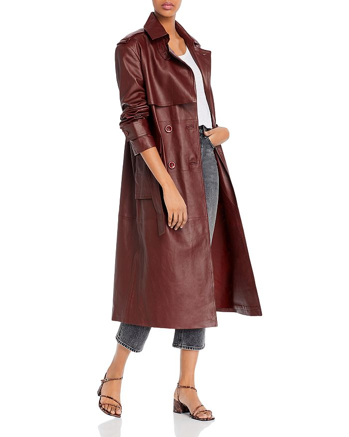 REMAIN - Pirello Leather Trench Coat