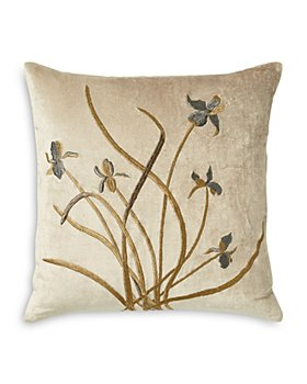 "Michael Aram - Iris Embroidered Velvet Decorative Pillow, 18"" x 18"""