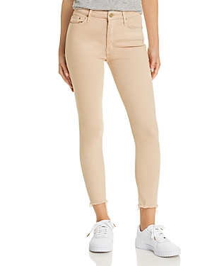 Mother Looker High-Rise Cropped Skinny Jeans in Khaki-Women