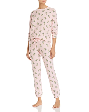 Aqua Sleep Pineapple Print Pajama Set - 100% Exclusive-Women