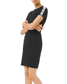 MICHAEL Michael Kors - Logo-Striped Ribbed Dress