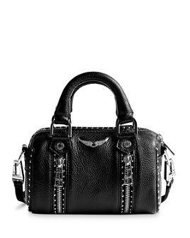 Zadig & Voltaire - Sunny Nano Studded Leather Bowling Handbag