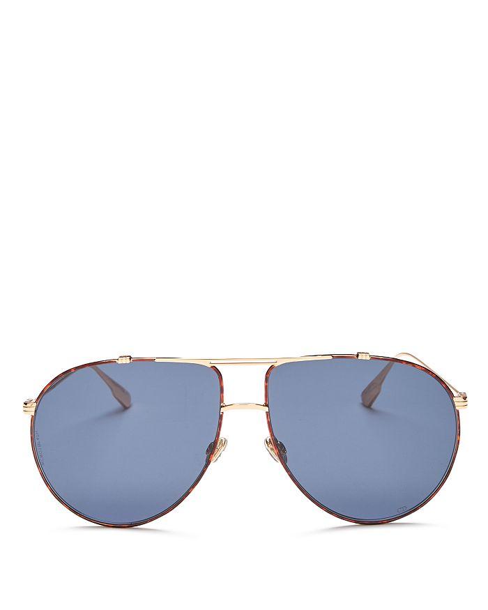 Dior - Women's DiorMonsieur1 Brow Bar Aviator Sunglasses, 63mm
