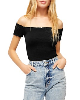 Free People - Moulin Off-the-Shoulder Crop Top